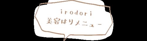 irodori 美容はりメニュー
